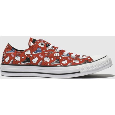 Converse Red All Star Hello Kitty Ox Trainers