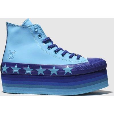 Converse Blue Platform Hi X Miley Cyrus Trainers