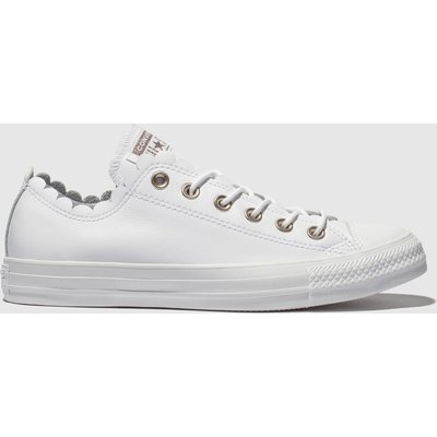 Converse White All Star Frilly Thrills Ox Trainers