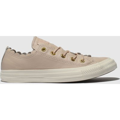 Converse Pale Pink All Star Frilly Thrills Ox Trainers