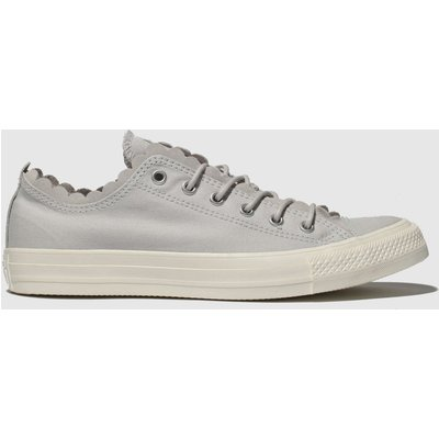 Converse Light Grey All Star Frilly Thrills Ox Trainers