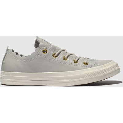 Converse Grey All Star Frilly Thrills Ox Trainers