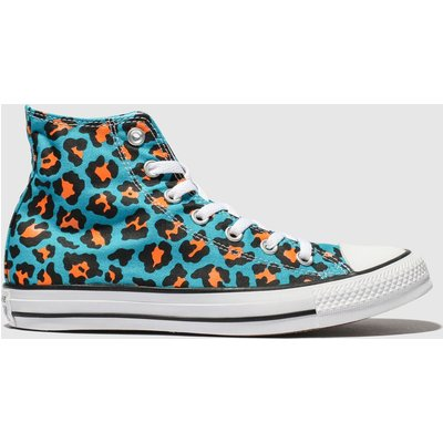 Converse Blue All Star Courtside Animal Hi Trainers
