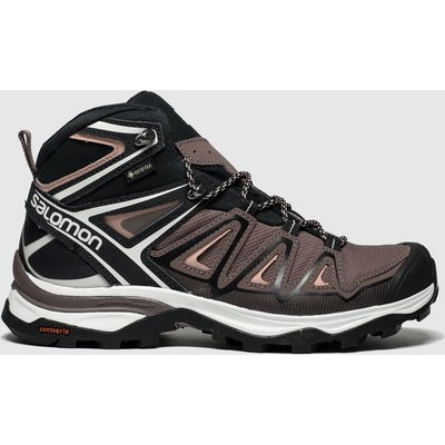 Salomon Black & Pink X Ultra 3 Mid Gtx Trainers