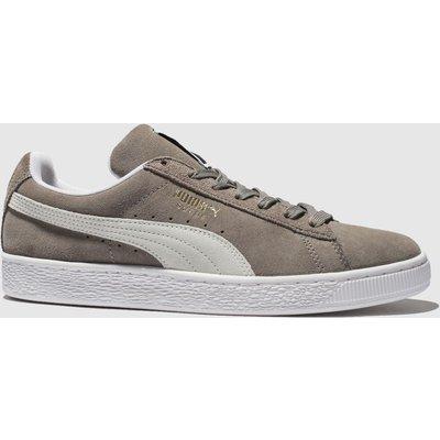 Puma Grey Suede Classic Trainers