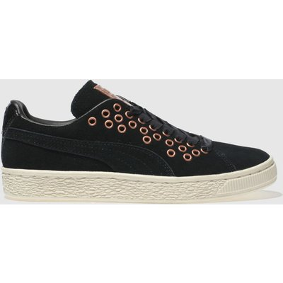 puma black   gold suede xl lace vr trainers - 4057827874372