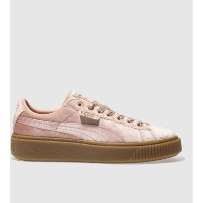 puma pink basket platform vs trainers - 5054458112872
