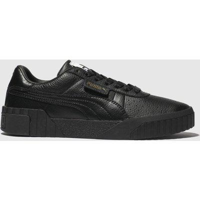 Puma Black Cali Leather Trainers
