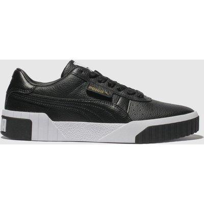 Puma Black & White Cali Leather Trainers