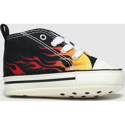 Converse Black & Orange 1st Star Flame Shoes Baby