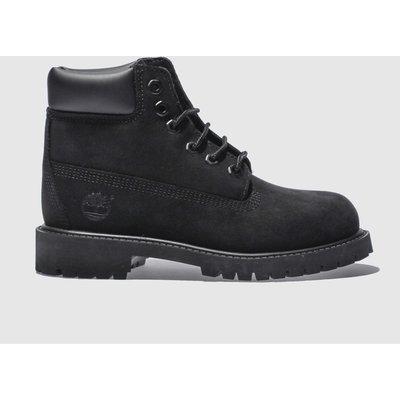 Timberland Black 6 Inch Premium Boots Junior