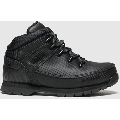 Timberland Black Euro Sprint Boots Junior