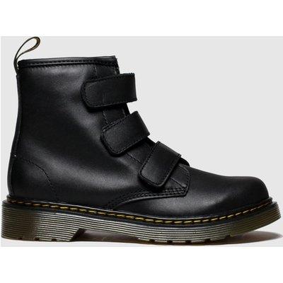 Dr Martens Black 1460 Strap Boots Junior