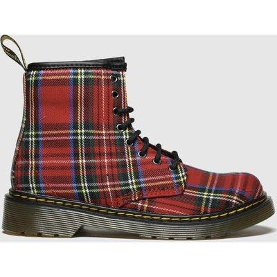 Dr Martens Red & Blue 1460 Tartan Boots Junior