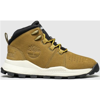 Timberland Tan Brooklyn City Mid Boots Youth