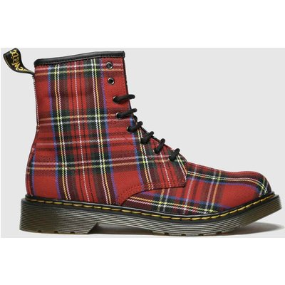 Dr Martens Red & Blue 1460 Tartan Boots Youth