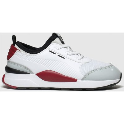 Puma White & Red Rs-0 Smart Trainers Toddler