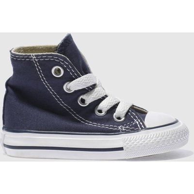 Converse Navy All Star Hi Trainers Toddler