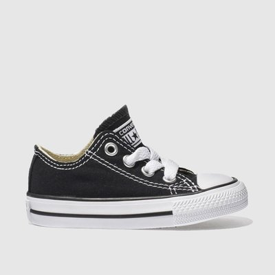 Converse Black All Star Lo Trainers Toddler