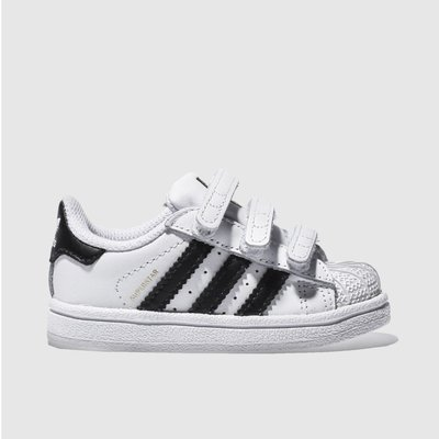adidas white   black superstar foundation unisex toddler - 4055014192490