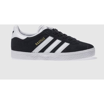 adidas black   white gazelle unisex junior - 4.05728e+012