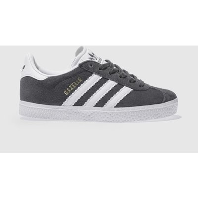 adidas dark grey gazelle unisex junior - 5054457705068