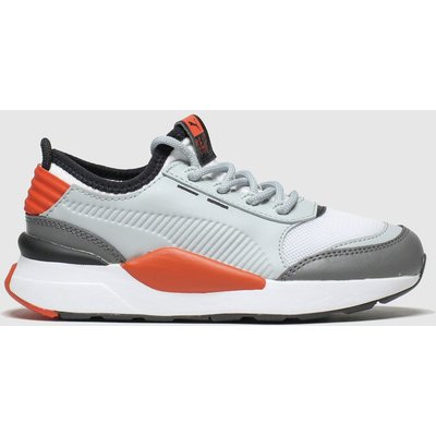 Puma White & Grey Rs-0 Smart Trainers Junior