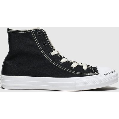 Converse Black & White Chuck Taylor All Star Renew Hi Trainers Junior