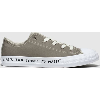 Converse Grey Chuck Taylor All Star Renew Lo Trainers Junior