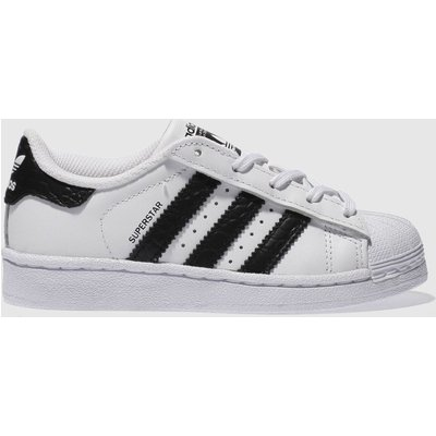 adidas white   black superstar unisex junior - 4058025578987