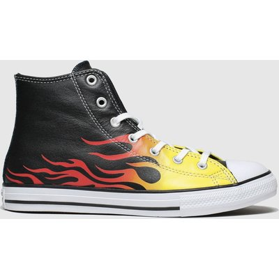 Converse Black & Orange All Star Hi Flame Trainers Youth