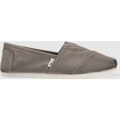 Toms Grey Classic Slip Shoes