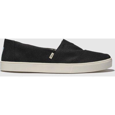 Toms Black Alpargata Cupsole Shoes