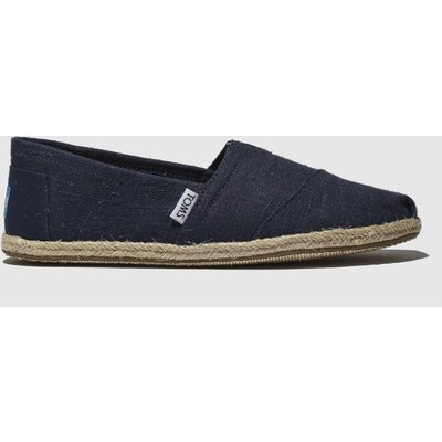 Toms Navy Alpargata Washed Rope Shoes