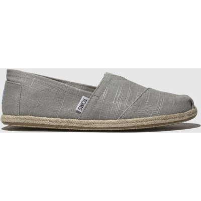Toms Light Grey Alpargata Washed Rope Shoes