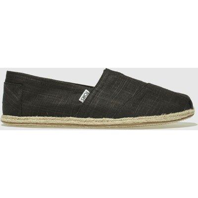 Toms Black Alpargata Washed Rope Shoes