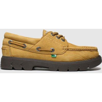 Kickers Tan Lennon Boat Shoe Shoes