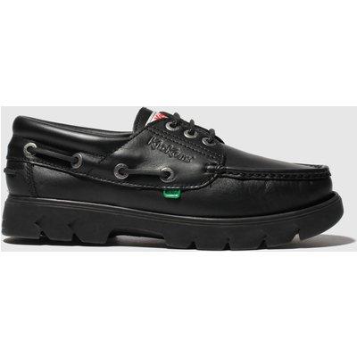 Kickers Black Lennon Boat Shoe Shoes