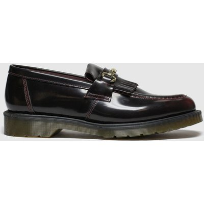 Dr Martens Burgundy Adrian Snaffle Shoes