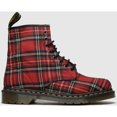 Dr Martens Red 8 Eye Tartan Canvas Boots