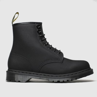 Dr Martens Black 1460 Nubuck 8 Eye Boot Boots