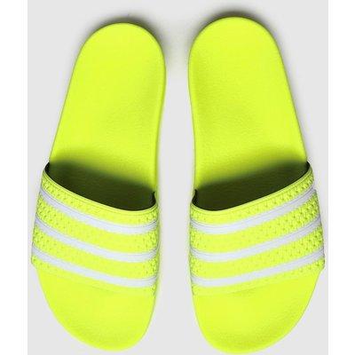 Adidas Yellow Adilette Slide Sandals