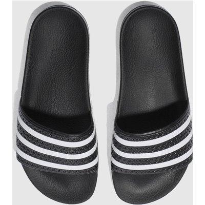 Adidas Black & White Adilette Slide Sandals