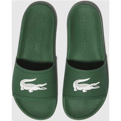 Lacoste Green Croco Slide Sandals
