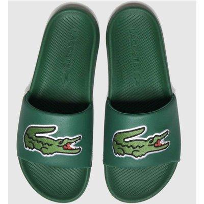 Lacoste Dark Green Croco Slide Sandals
