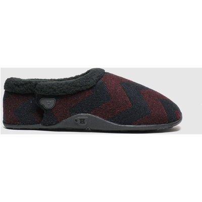 Homeys Black & Red Ivor Slippers