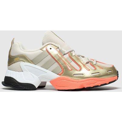 Adidas White & Gold Eqt Gazelle Trainers