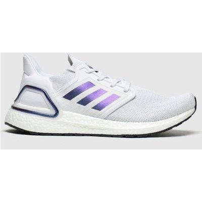 Adidas Grey & Lilac Ultraboost 20 Trainers