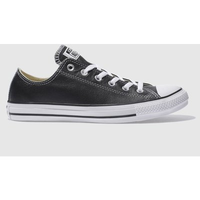 Converse Black All Star Leather Ox Trainers
