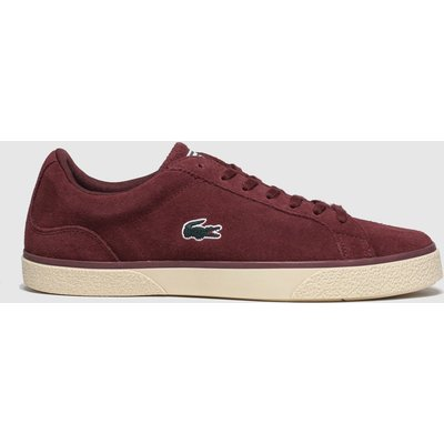 Lacoste Burgundy Lerond Trainers